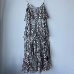 JILL STUART Silver Layered Dress